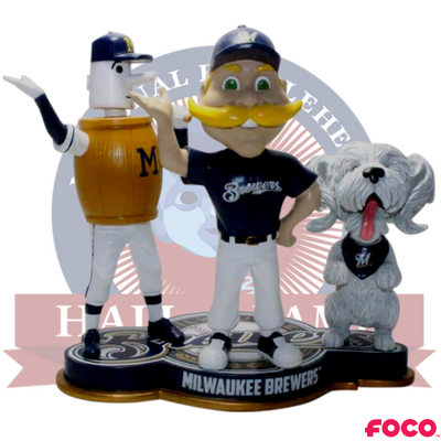 Milwaukeee Brewers Triple Mascot Bobblehead