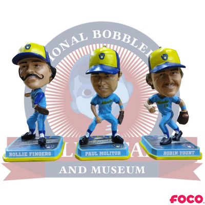 Milwaukee Brewers Mini Set of 3 Legends Bobbleheads - National Bobblehead HOF Store