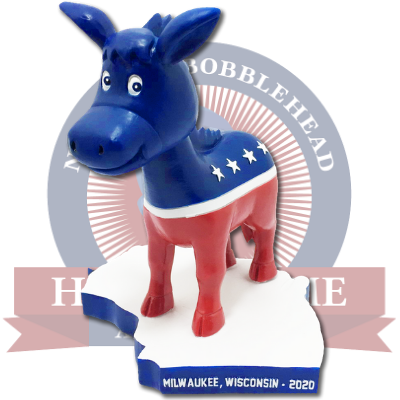 Milwaukee, Wisconsin Democratic Donkey Bobblehead