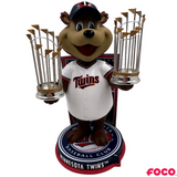 Minnesota Twins - T.C. Bear MLB World Series Champions Mascot Bobbleheads