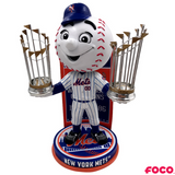 New York Mets - Mr. Met MLB World Series Champions Mascot Bobbleheads