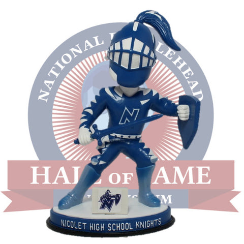 Nicolet High School Knights Mascot Bobblehead - National Bobblehead HOF Store