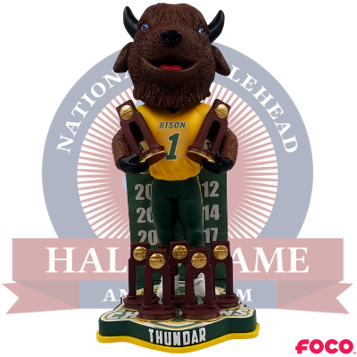 North Dakota State Bison 7-Time National Champions Bobblehead (Presale)