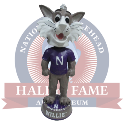 3 Foot Northwestern Wildcats Willie the Wildcat Bobblehead - National Bobblehead HOF Store