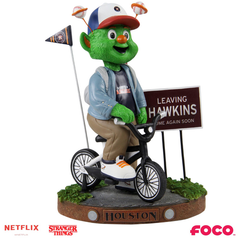 Houston Astros - Orbit - Mascot on Bike