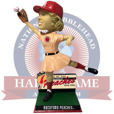 Rockford Peaches Wall Catch Bobblehead (Presale)
