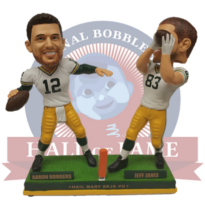 Rodgers to Janis Hail Mary Bobblehead - National Bobblehead HOF Store