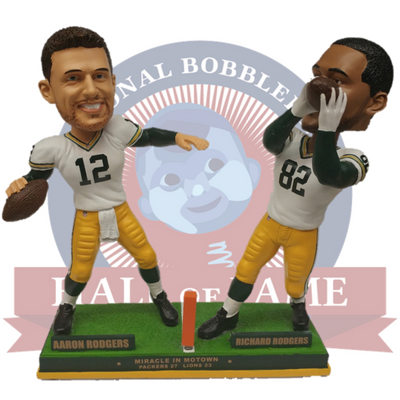 Rodgers to Rodgers Hail Mary Bobblehead - National Bobblehead HOF Store