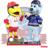 Fredbird and Louie St. Louis Cardinals and Blues High Five Bobblehead