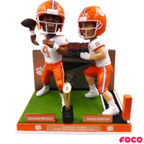 Deshaun Watson to Hunter Renfrow Clemson Tigers National Championship Game Bobblehead (Presale)