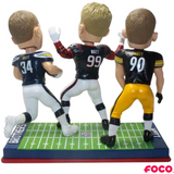 Watt Brothers NFL Triple Bobblehead