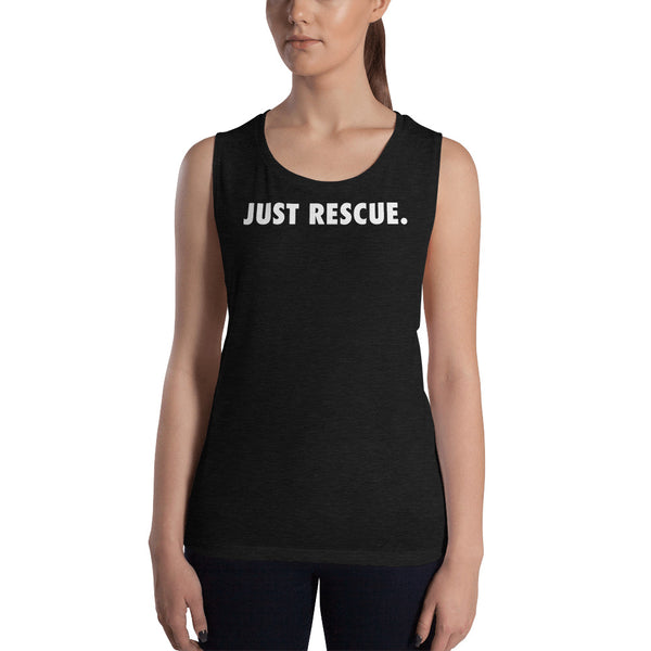 Ladies' Muscle Tank - Just Rescue.