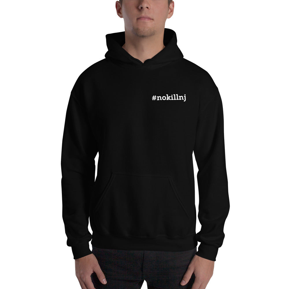 Hooded Sweatshirt - Black - No-Kill NJ