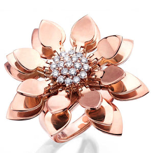 Rose Gold Lotus Ring