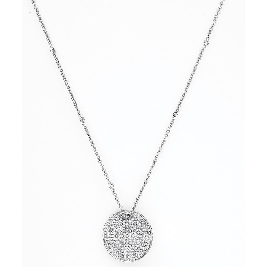 Le Rêve Micro-Pavé Disc Necklace