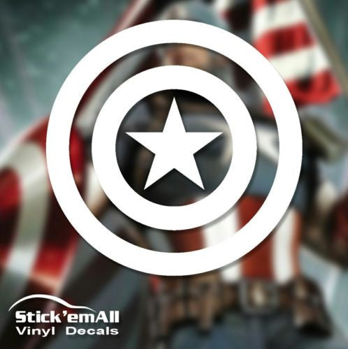 Captain America Marvel-Inspired Window Sticker