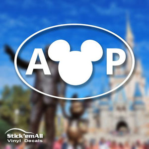 Annual Passholder Oval - Disney Inspired Window Sticker/Decal