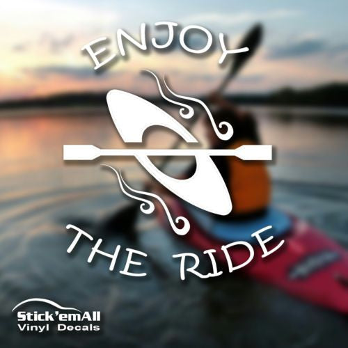 Enjoy the Ride - Kayak Window Sticker