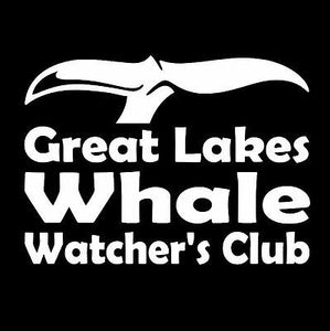 Great Lakes Whale Watcher's Club Window Sticker