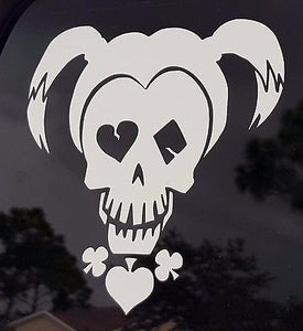 Harley Quinn White Suicide Squad Inspired Window Sticker