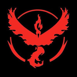 Team Valor Pokemon Go Window Sticker