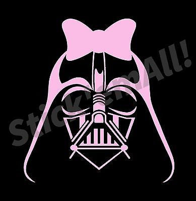 Lady Vader w/Bow Window Decal