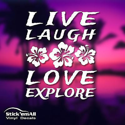 Live - Laugh - Love - Explore Window Sticker