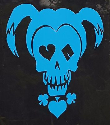Harley Quinn Blue Suicide Squad Inspired Window Sticker