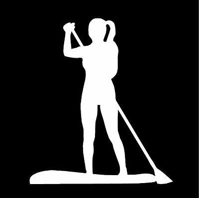 SUP Female Figure Window Sticker