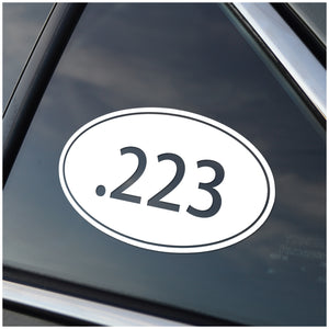 .223 Caliber Oval Vinyl Decal