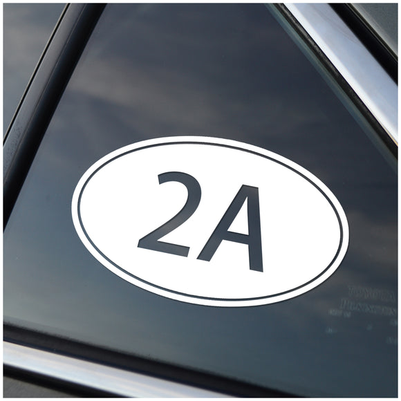 2A Second Amendment Oval Vinyl Decal