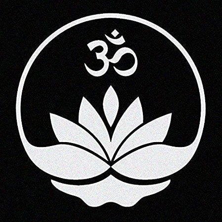 Lotus with Om Symbol Car Decal/Window Sticker