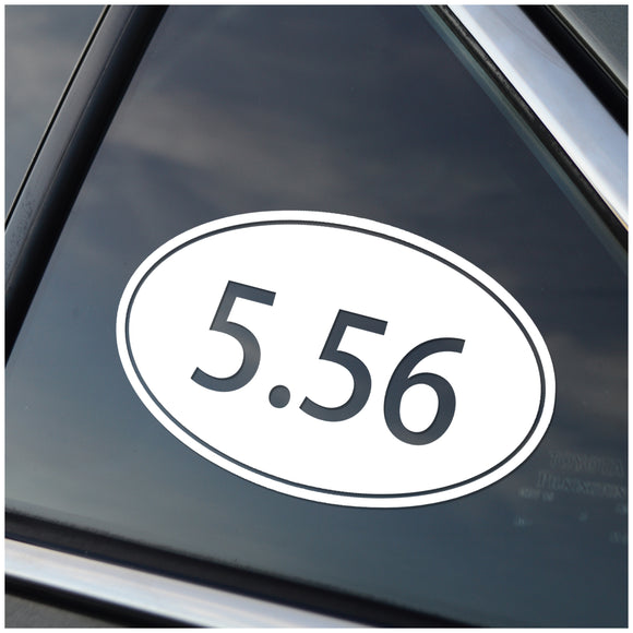 5.56 Oval Vinyl Decal