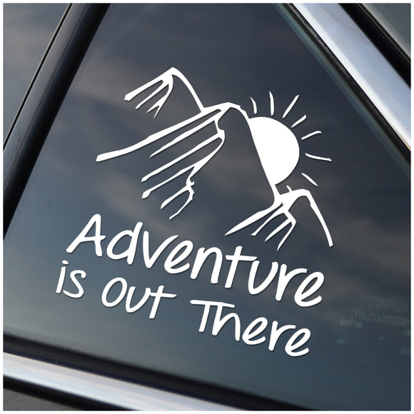 Adventure Is Out There - Mountains Window Sticker