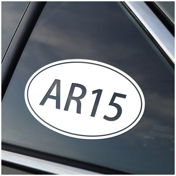 AR15 Caliber Oval Vinyl Decal