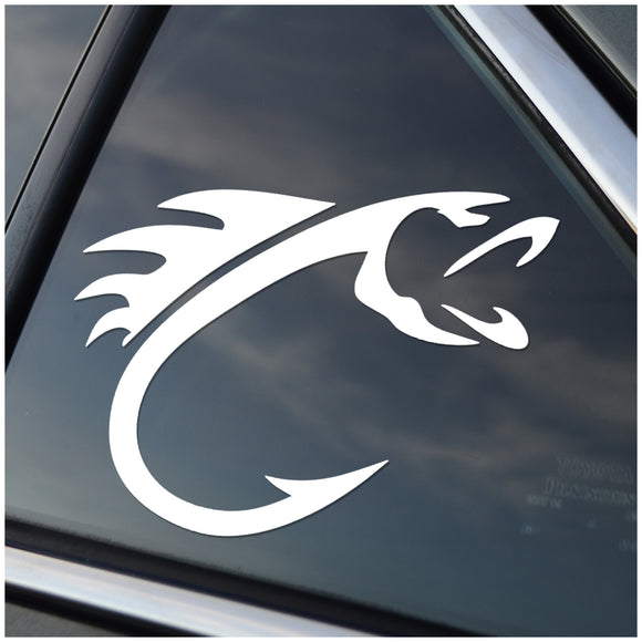 Fish Hook Window Decal