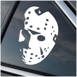 Friday the 13th Hockey Mask Vinyl Decal