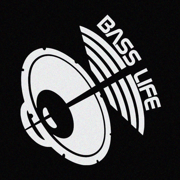 Bass Life Car Window Decal - Vinyl Window Sticker