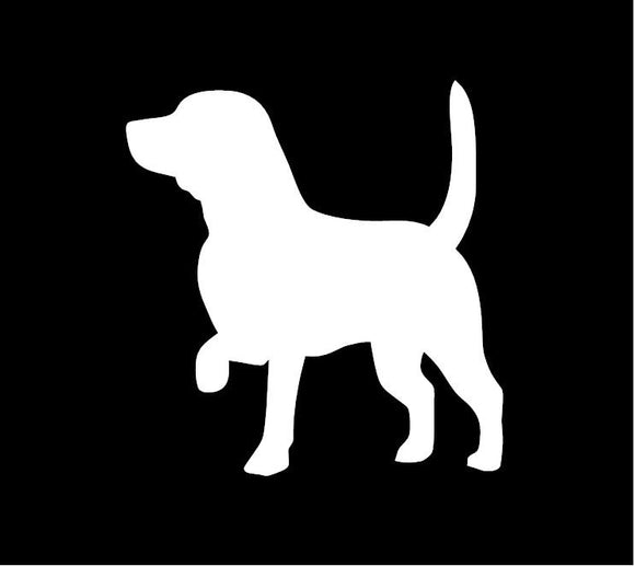 Beagle Vinyl Window Decal