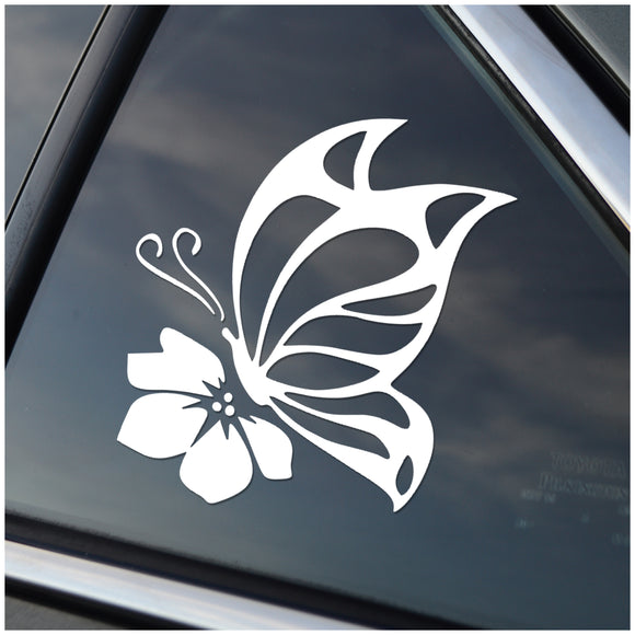 Butterfly and Flower Window Sticker