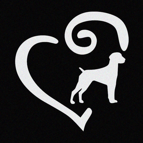 Dog Lover with Heart Window Decal