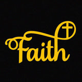 Faith Vinyl Window Decal Sticker in Multiple Color Choices