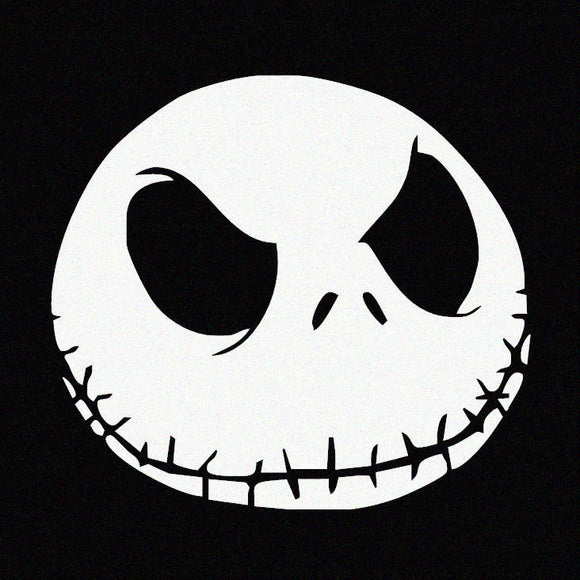 Jack Skellington Face - Disney Inspired Window Sticker