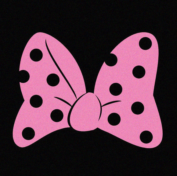 Minnie Mouse Bow Pink, Blue or White - Disney Inspired Window Sticker/Decal