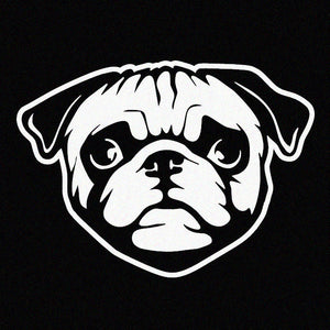 Pug Face Window Decal