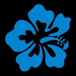 Hibiscus Light Blue Window Decal
