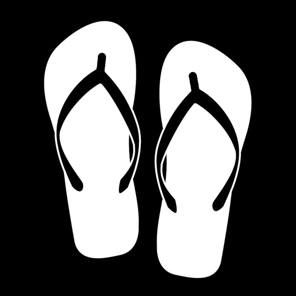 Flip Flops White Window Decal