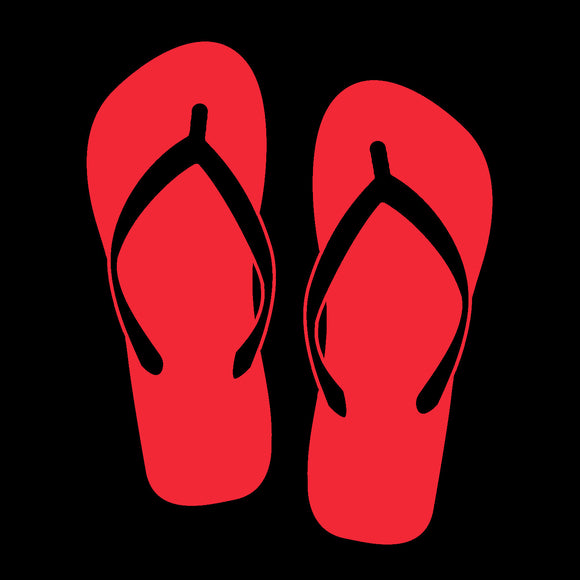Flip Flops Red Window Decal
