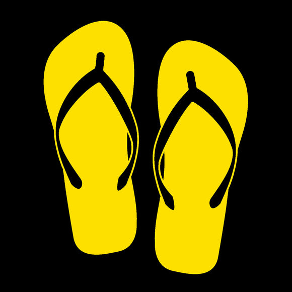 Flip Flops Yellow Window Decal