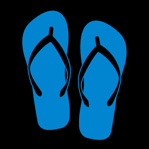 Flip Flops Blue Window Decal